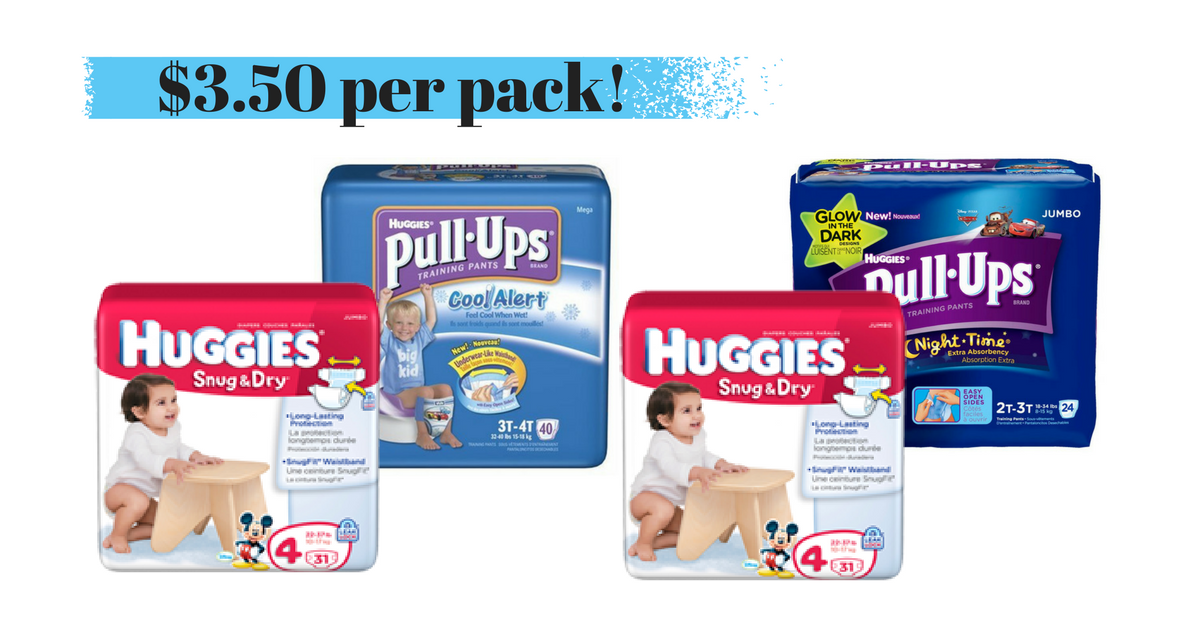 Huggies Diapers & Pull-Ups for $3.50 per pack at Walgreens :: Southern Savers