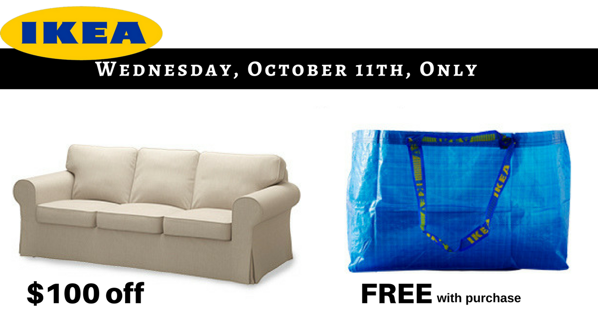 Ikea 1 Day Only Deal Free Reusable Bag 100 Off Ektorp