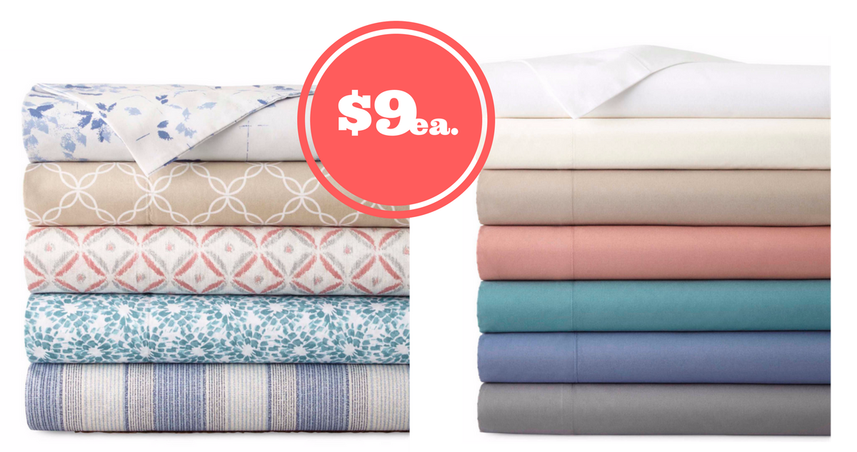 Stunning JCPenney thread count Cotton Sheet Sets ea Southern Savers