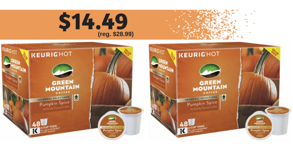 Green Mountain Pumpkin Spice K-Cups, 48
