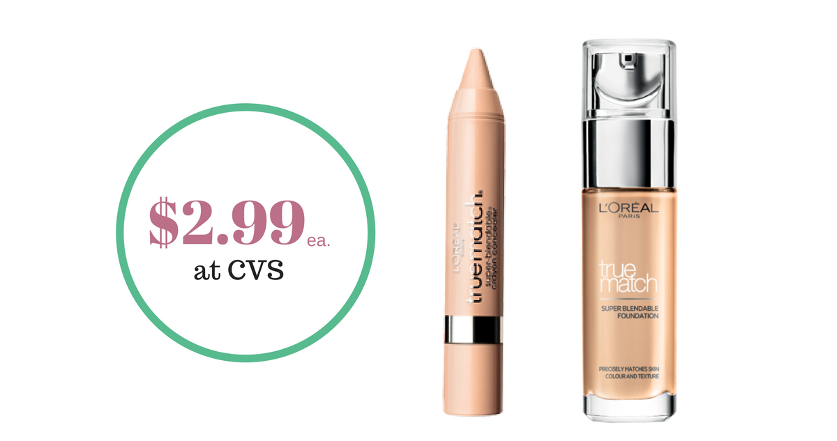 L'Oreal Concealer & Foundation, $2.99 each :: Southern Savers