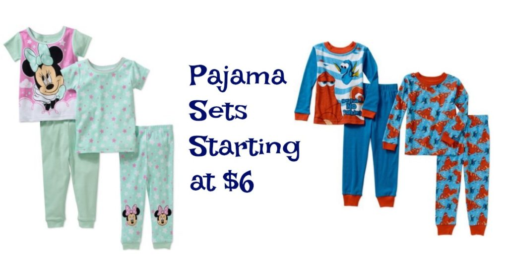 3f199ff1e Walmart is offering 4-Piece Boys or Girls Pajama Sets starting $6. Choose  from some of your favorite characters including Frozen, Monsters Inc., ...