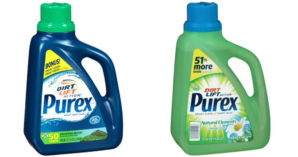 Free coupons for purex laundry detergent