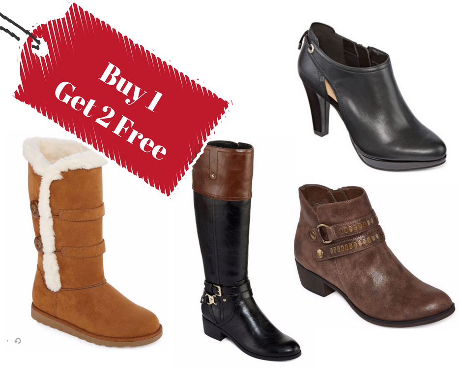 Buy 1 Get 2 Free: JCPenney Boots Sale