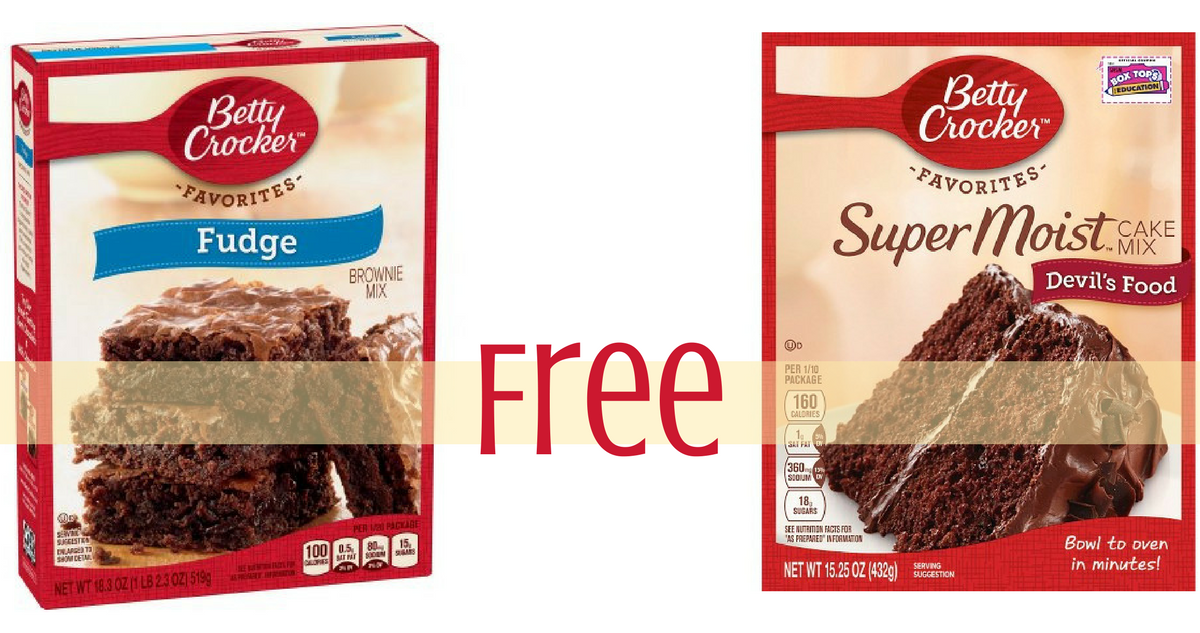 Betty crocker brownie mix coupons