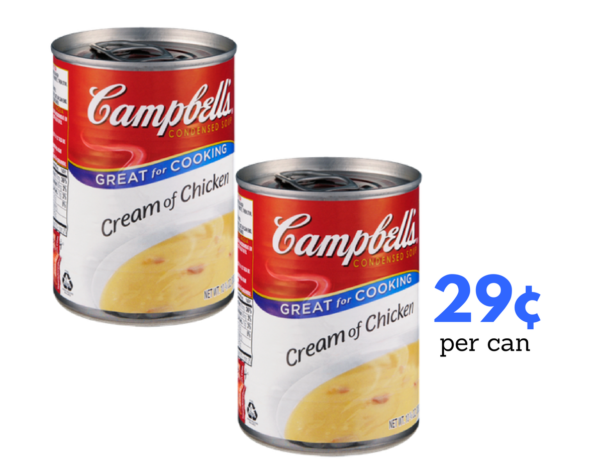 image regarding Campbell Soup Printable Coupon referred to as Campbells Condensed Soups, 29¢ For every Can :: Southern Savers