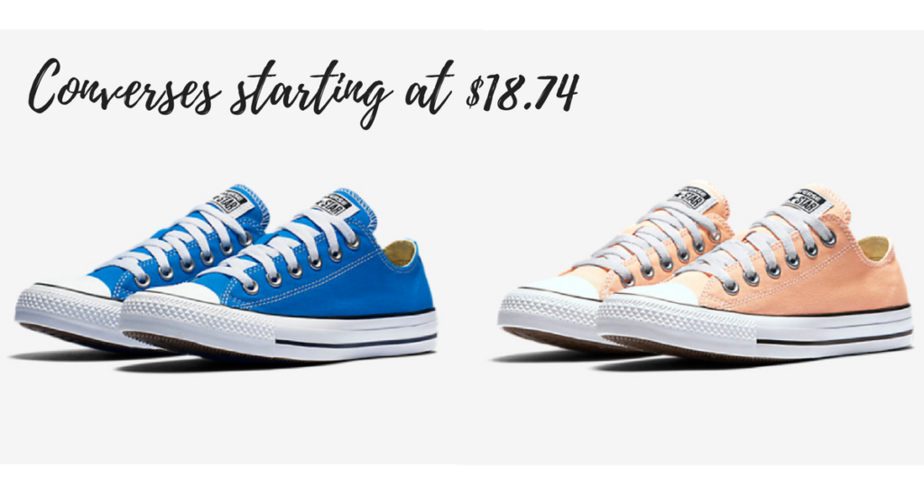 Head to Nike.com and score Converse Unisex Chuck Taylor All Star Seasonal  Low Top shoes in select colors on sale for as low as $18.74!