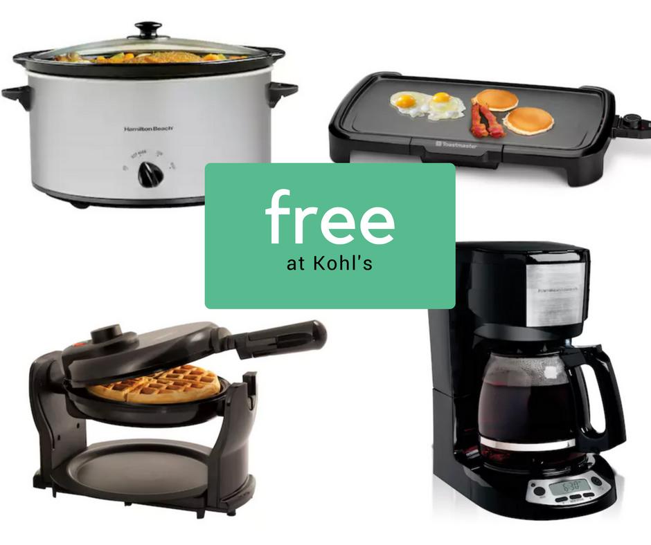 Free Kitchen Appliances After Rebate At Kohls Southern Savers