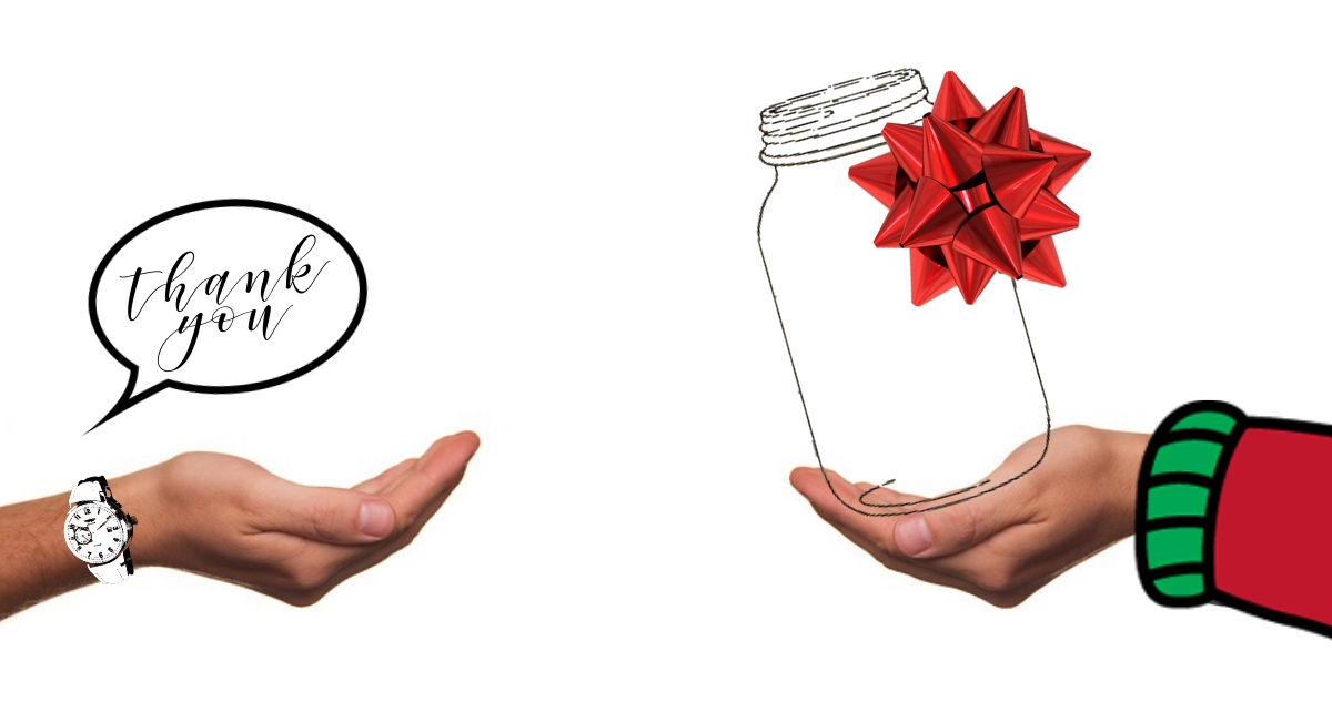 gifts in a mason jar