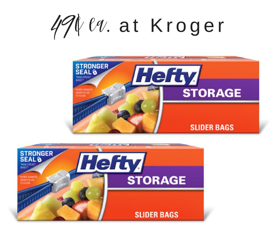 hefty storage bags