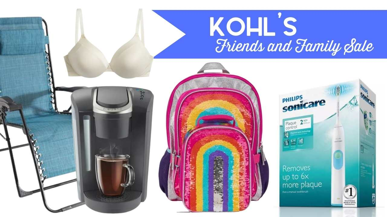kohl's friends and family sale
