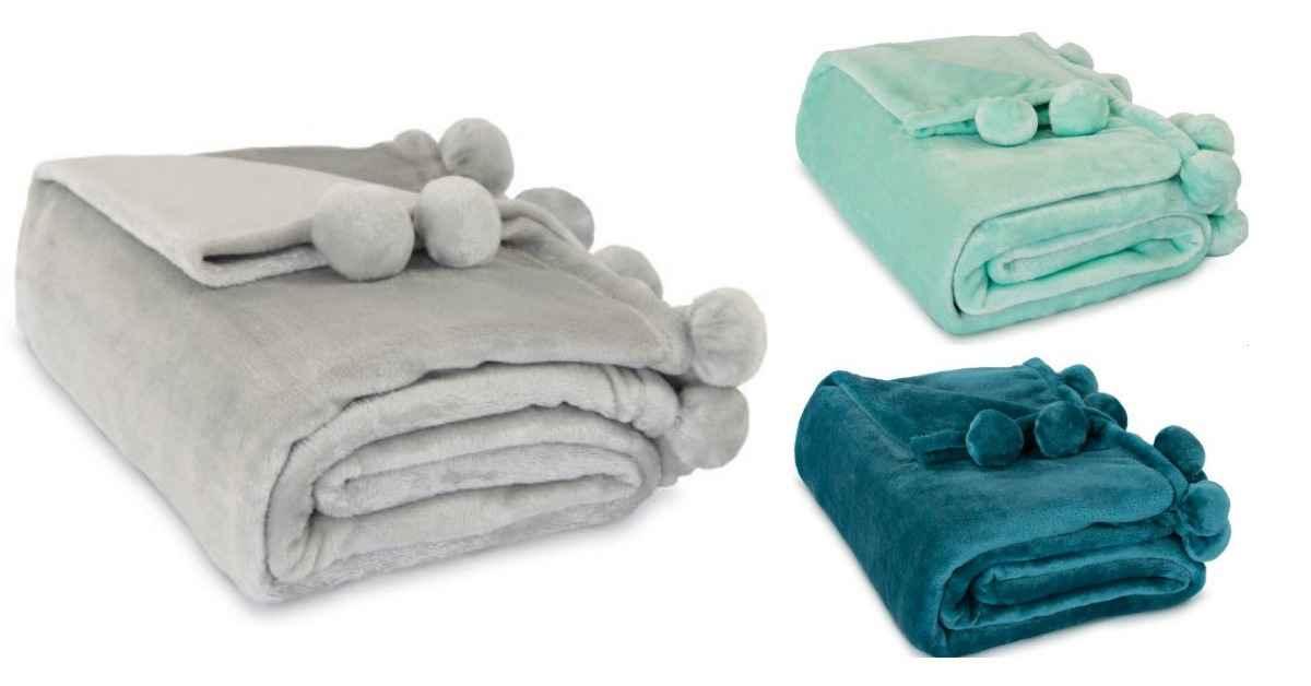 Walmart Fleece Pom Pom Blanket For 5 Southern Savers