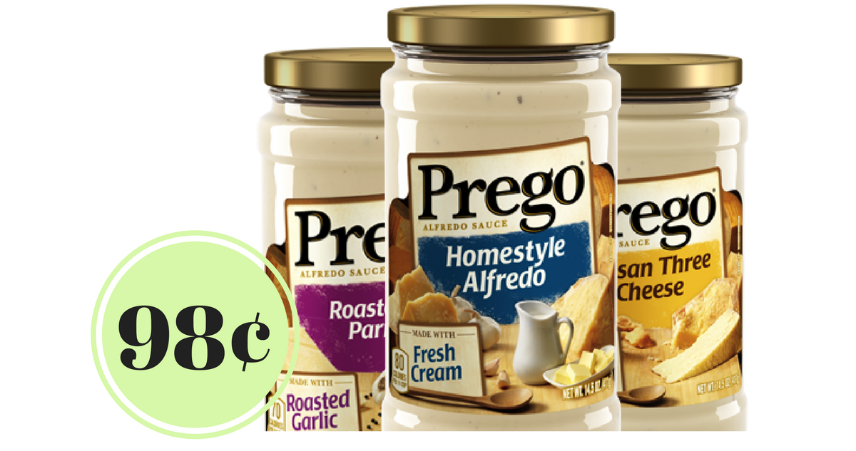 picture about Prego Printable Coupons known as Contemporary Prego Coupon 98¢ Alfredo Sauce :: Southern Savers