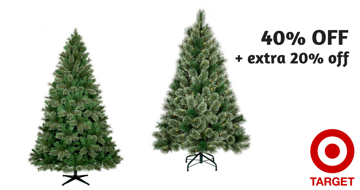 Target: 40% Off Christmas Trees + Extra 20% Off