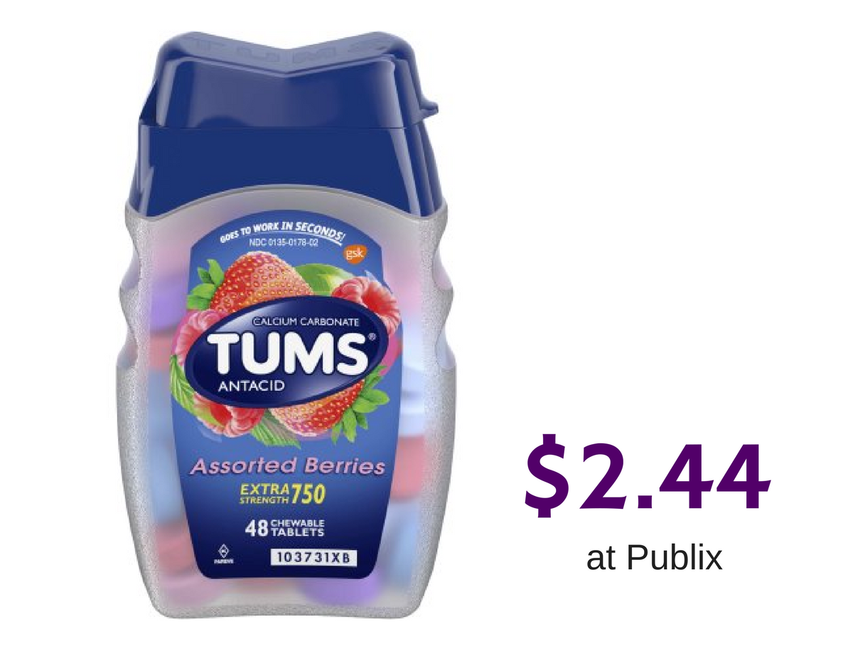 tums antacid tablets   2 44 at publix    southern savers