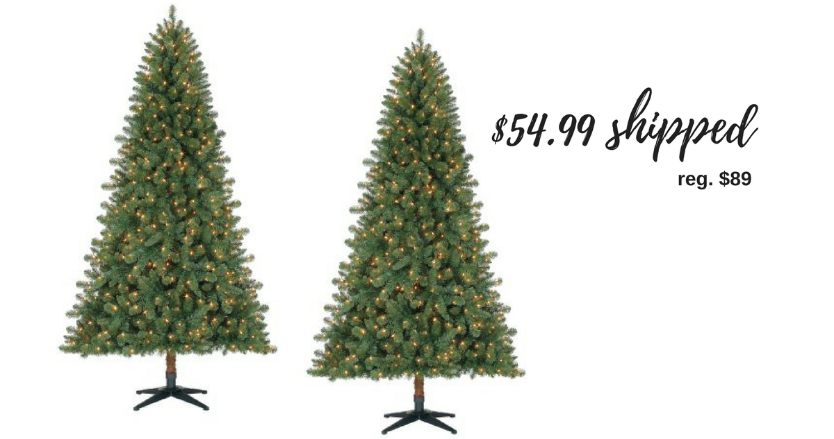 Pre-Lit 7' Duncan Fir Artificial Christmas Tree, $54.99