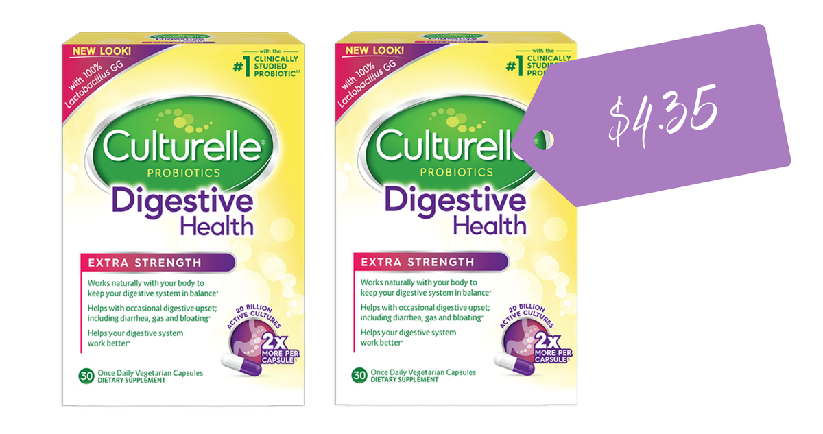 photo relating to Culturelle Coupon Printable named Culturelle Probiotics, $4.35 at Emphasis :: Southern Savers
