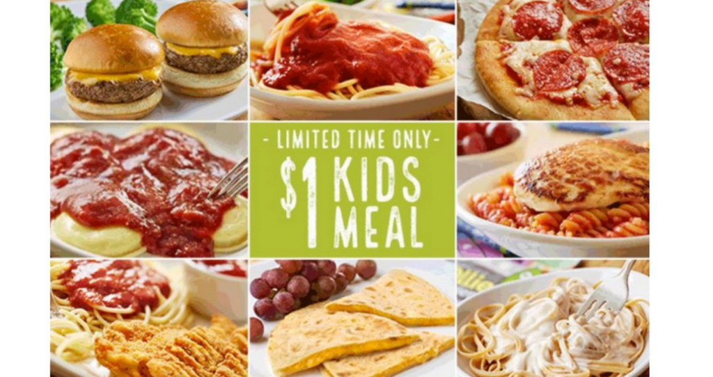 1 Olive Garden Kid S Meal Southern Savers