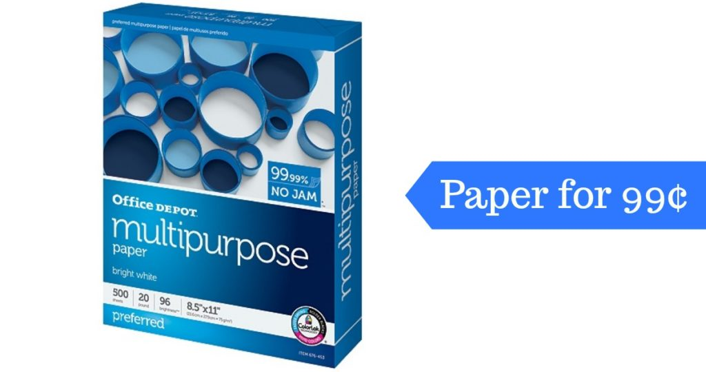 Here S A Fun Way To Save On Paper Print All Those Coupons You Can Get Ream Of Office Depot Brand Multipurpose 99 After Rewards