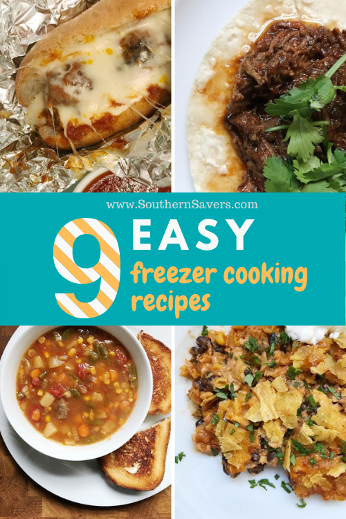 Freezer cooking fans! Here are 9 easy freezer cooking recipes that will help you save time in the kitchen. Make sauces, casseroles, and more.