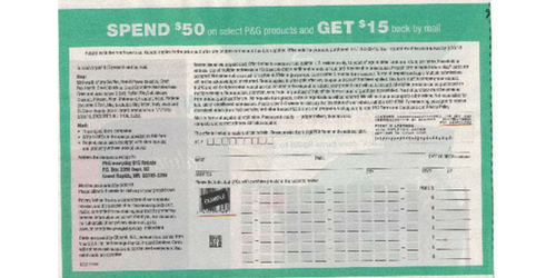 Arrp Member Offer 15 Off 50 P G Products Rebate Southern Savers