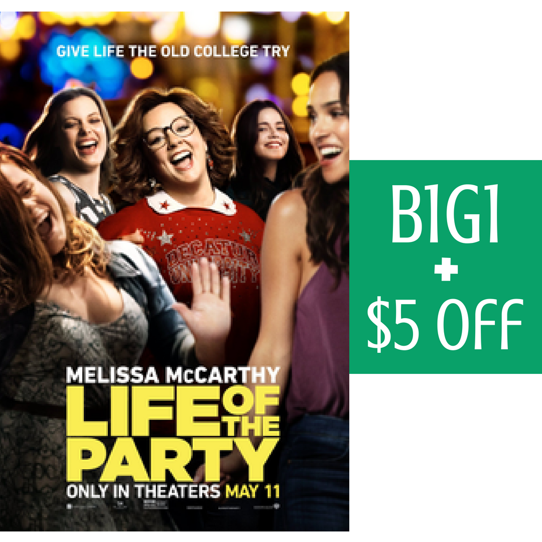 Bogo Life Of The Party Movie Tickets 5 Off Southern