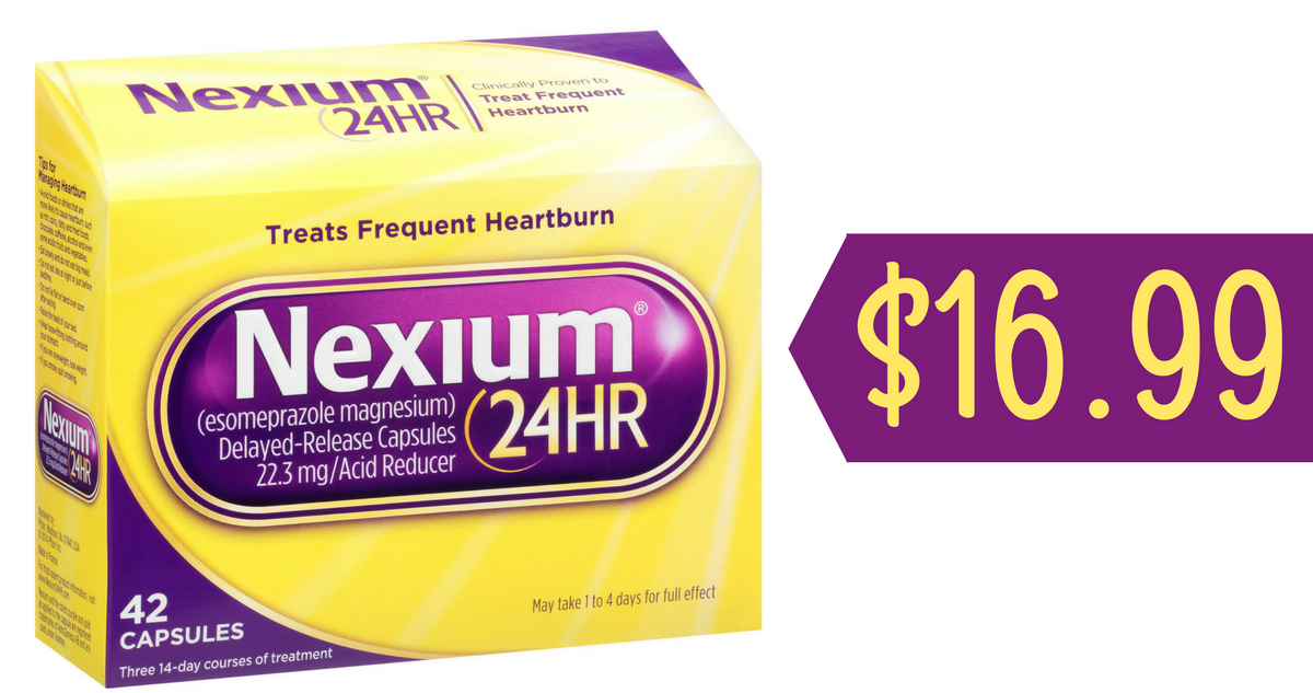 photograph about Nexium Printable Coupon identified as Nexium Coupon codes Tends to make Nexium 24HR, 42 ct. $16.99