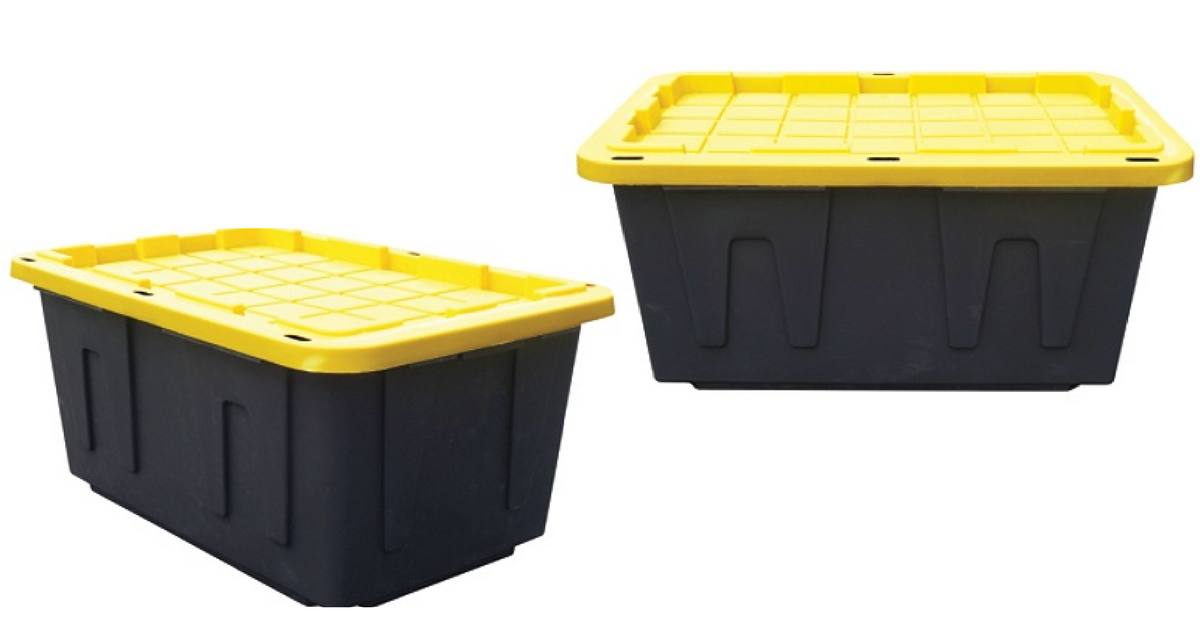 27 Gallon Plastic Storage Totes For 6 39 Ea Southern