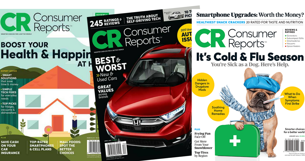 1-Year Consumer Reports Magazine Subscription, $18.99 (77% off ...