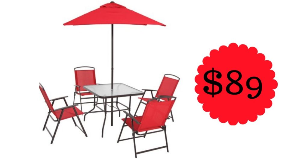 Head To Where They Are Offering The 6 Piece Mainstays Albany Lane Folding Dining Set For 89 Shipped Regularly 124