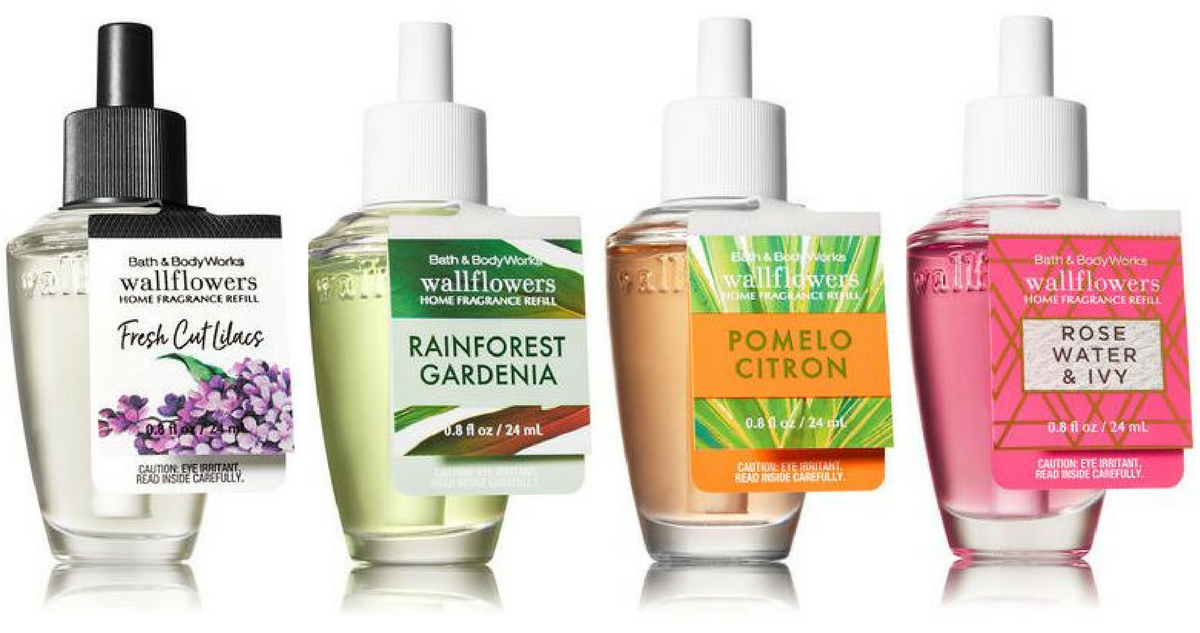 how to clean bath and body works wallflowers