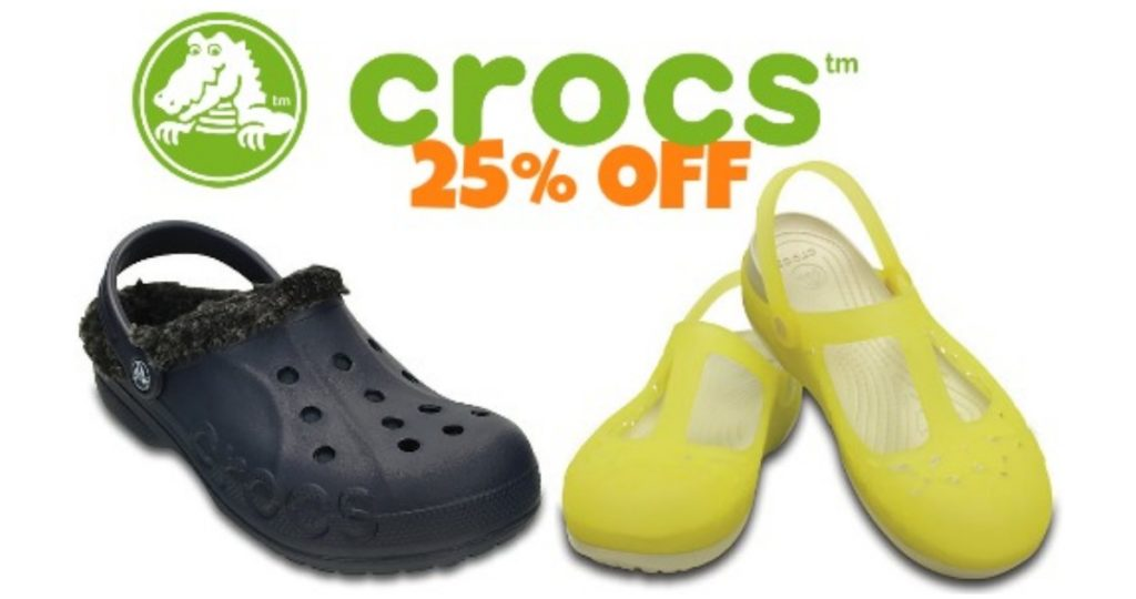77b526a42becf Crocs is offering 25% off sitewide