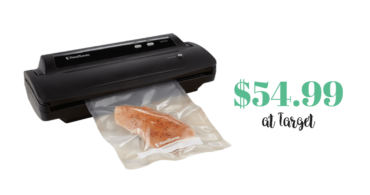 Foodsaver Vacuum Sealer 54 99 At Target Southern Savers