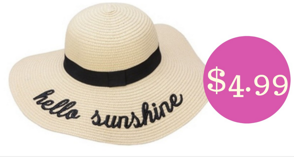 ea182c0db18 Get ready for summer with a deal on Embroidered Summer Sun Hats for  4.99