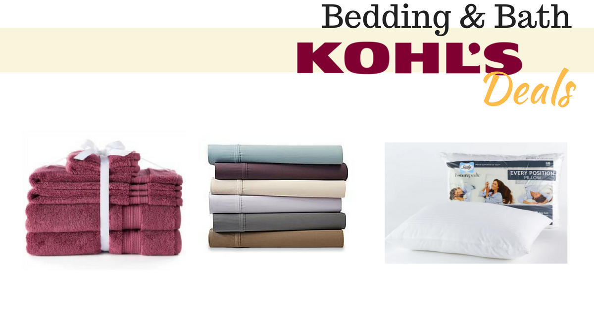Kohls Triple Stacking Coupons: Bed & Bath Deals! :: Southern Savers