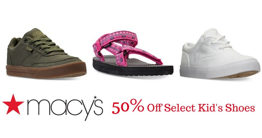 Macy's Sale | 50% Off Select Kid's Shoes :: Southern Savers