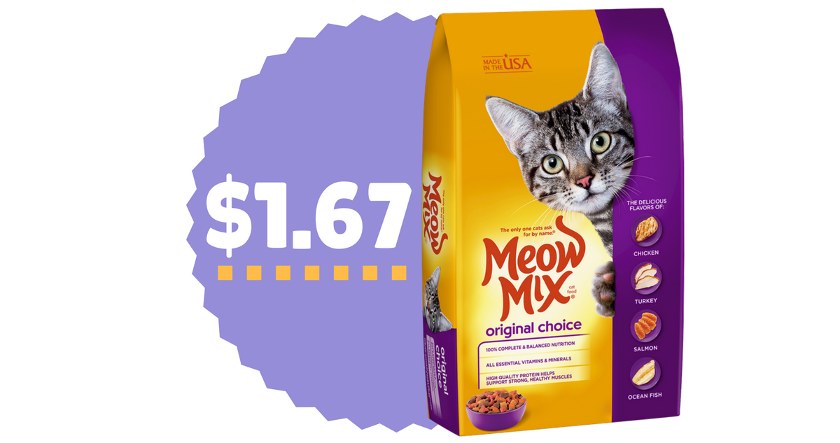 graphic relating to Meow Mix Coupon Printable referred to as Meow Blend Coupon codes Cat Food items For $1.67 :: Southern Savers