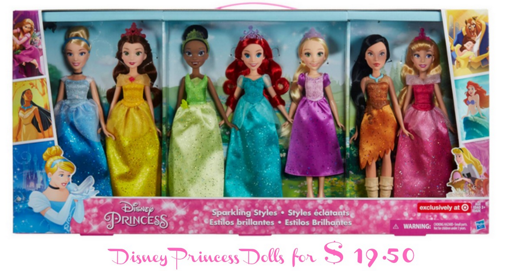 Disney Princess Sparkling Styles Dolls For 19 50