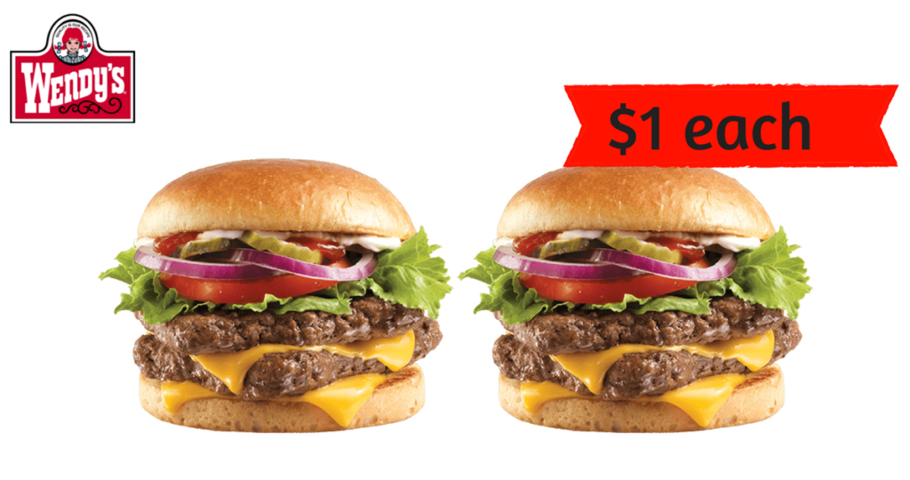 Wendys Deal 1 Double Stack Hamburgers