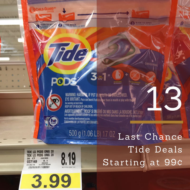 Last Chance Tide Deals Pods For 99 Liquid For 1 95 Southern Savers