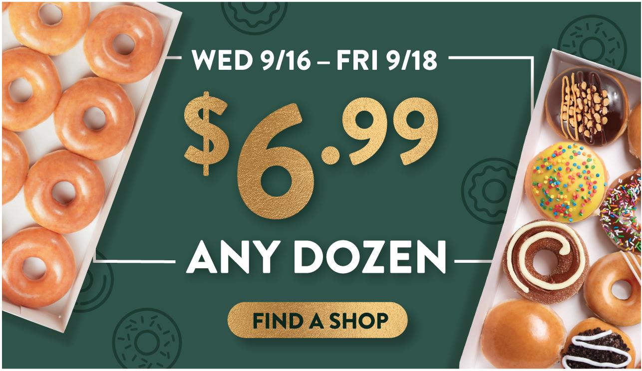 krispy kreme any dozen