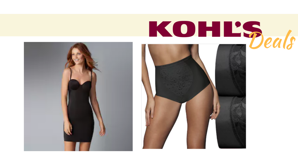 3d814487fdb This weekend stack a few Kohl's coupons together to get a great price on  bras, panties and shape wear.
