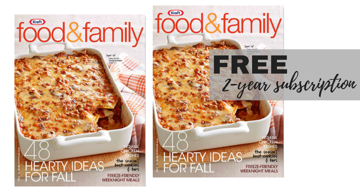 Kraft Food Family Magazine Free Subscription