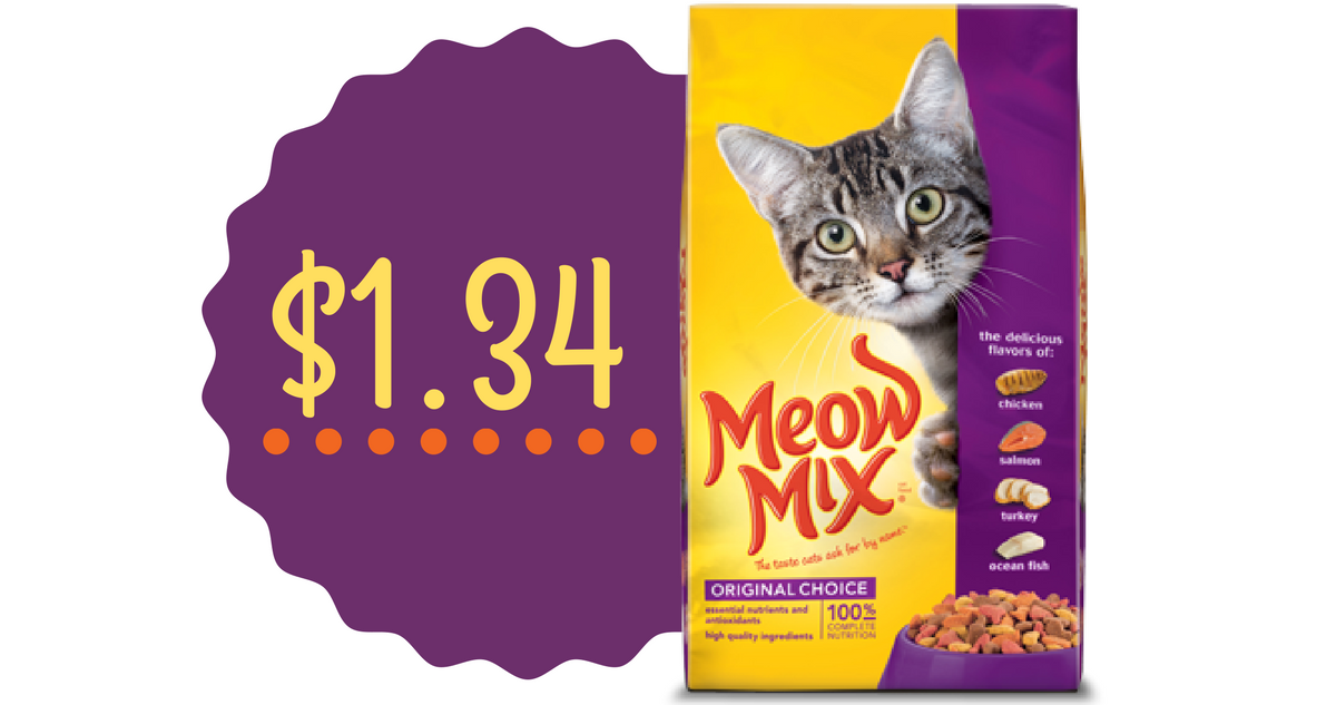 graphic regarding Meow Mix Coupon Printable known as Meow Combine Coupon Cat Food stuff for $1.34 :: Southern Savers