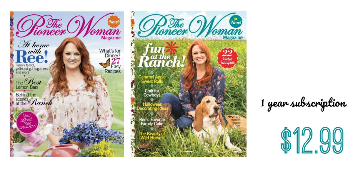 Pioneer Woman Magazine Subscription Southern Savers