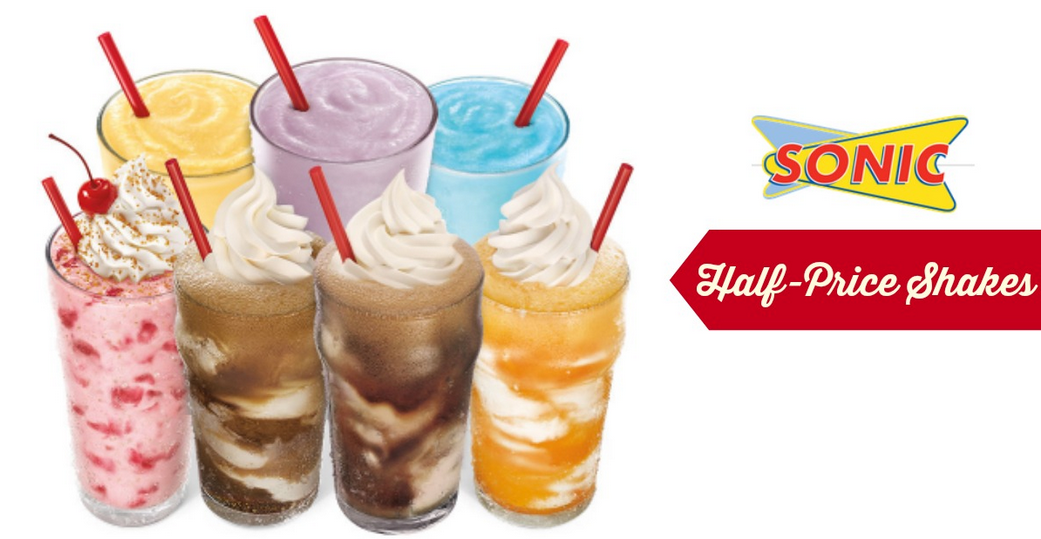 Sonic 1 2 Price Shakes Today Southern Savers