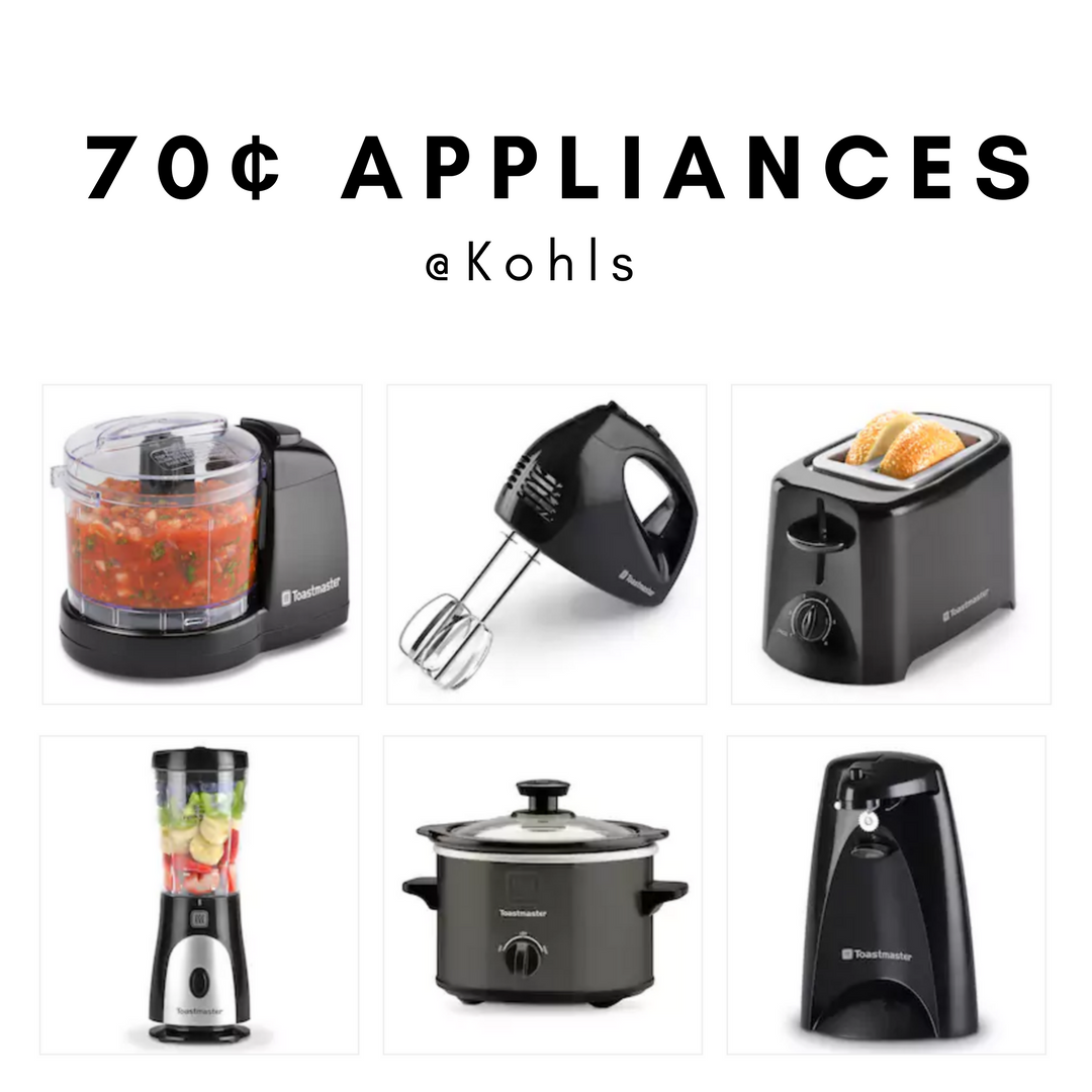 5 Small Kitchen Appliances for 70¢ Each (after rebate) :: Southern ...