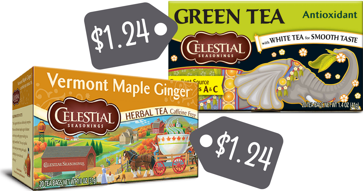 Celestial Seasonings - $1 Off Coupon For Wellness Teas ...