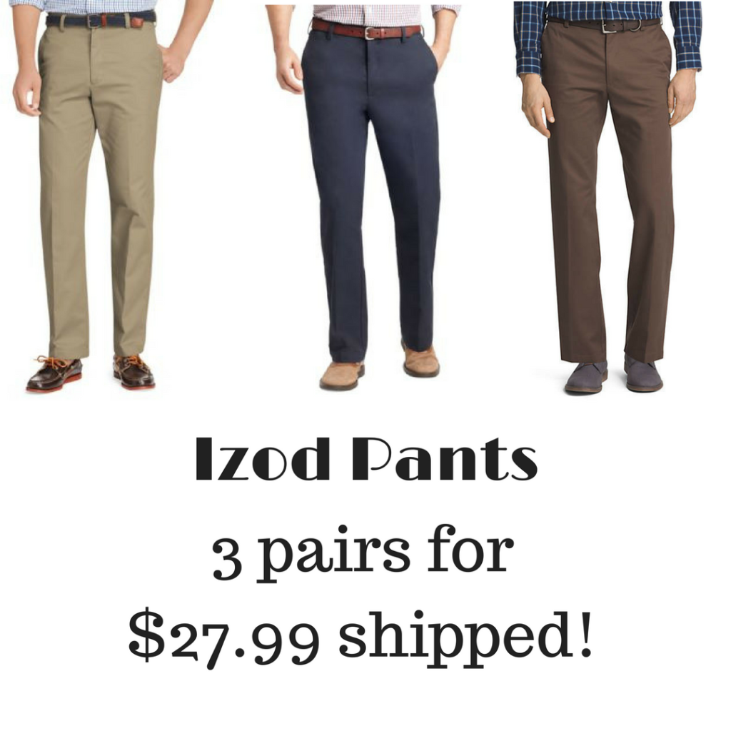 3 Pairs of Izod Pants, $27.99 Shipped! :: Southern Savers