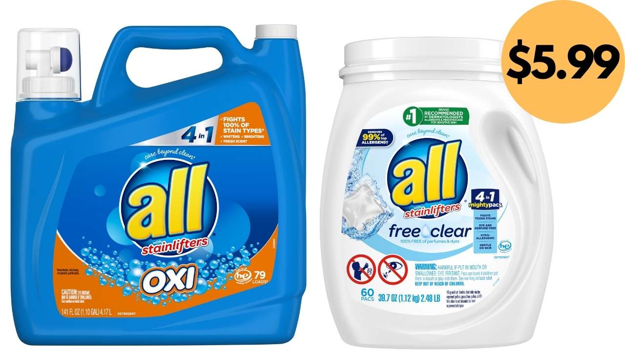 All Detergent Printable Coupons 79 Loads For 5 99 At Target Southern Savers